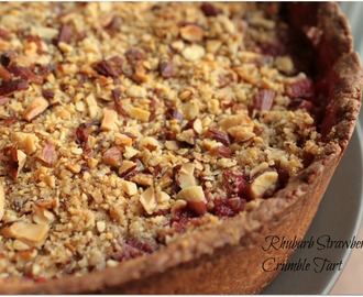 Rhubarb Strawberry Crumble Tart