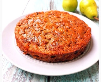 Spiced Pear, Walnut & Sultana Cake