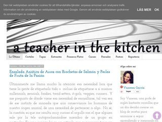 a teacher in the kitchen