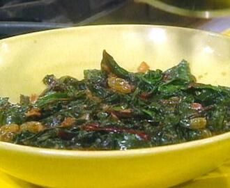 Swiss Chard and Golden Raisins