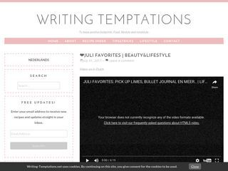 Writing-Temptations