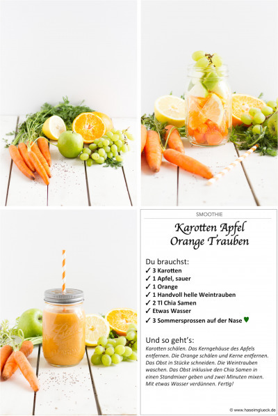 SMOOTHIE: Karotten Apfel Orange