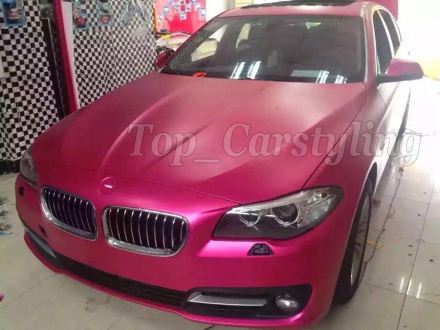 Pink Matte Chrome vinyl car wraps sticker color changing car sticker with Bubble Free Car styling size: 1.52x20m/roll