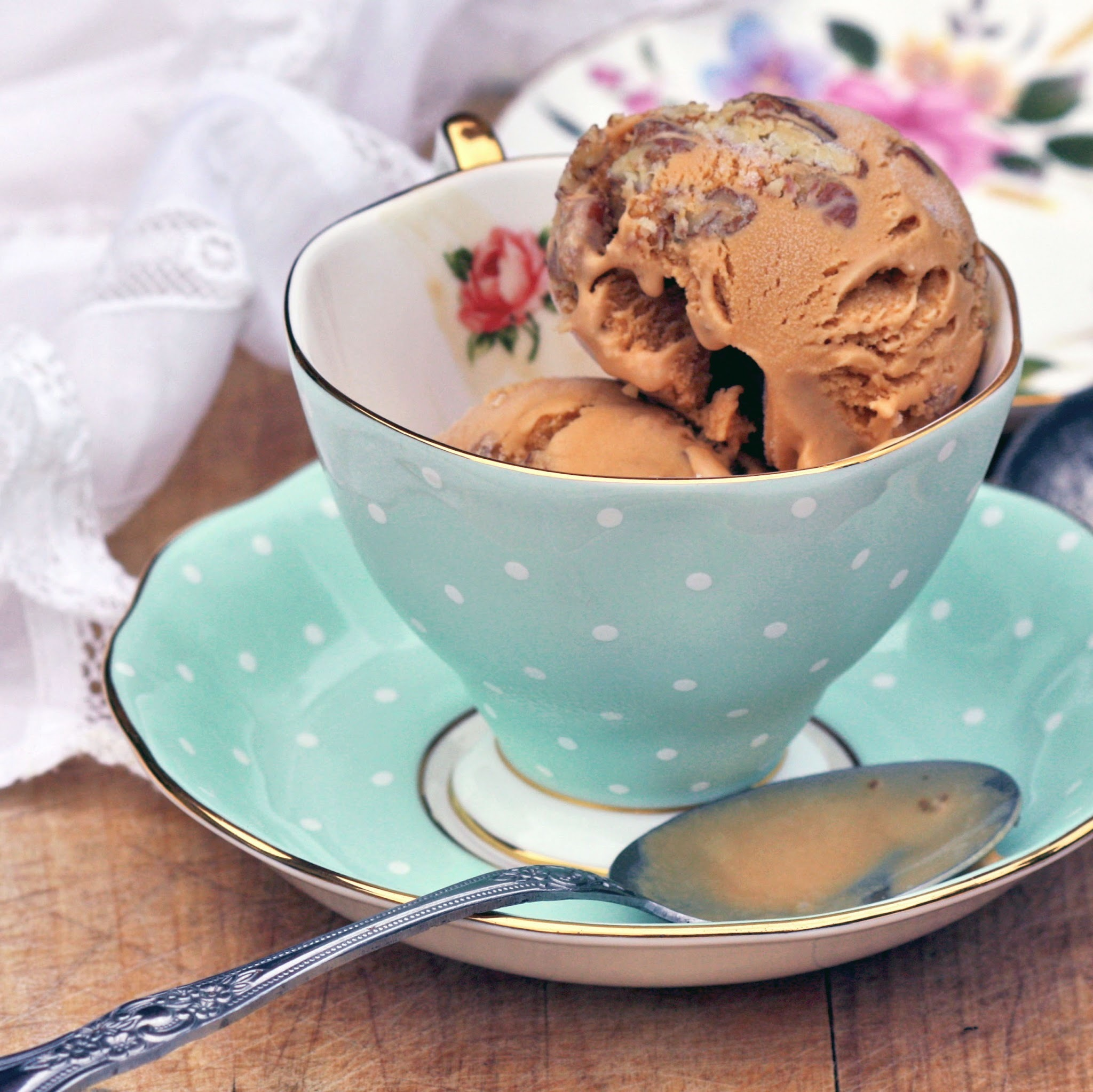 Salted Caramel Ice Cream with Butter Pecans
