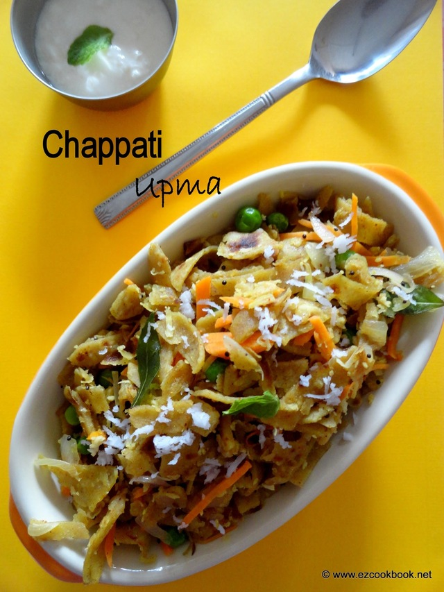 Chapati Upma - Tricky Leftovers | Ezcookbook