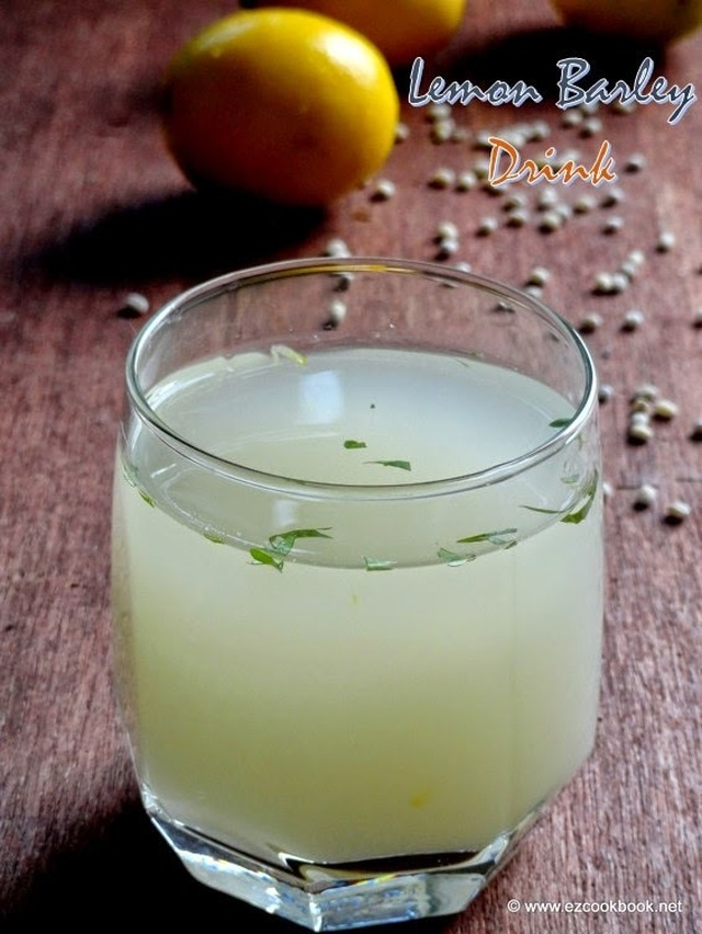 Lemon Barley Drink - Cooling Summer Drink Recipe