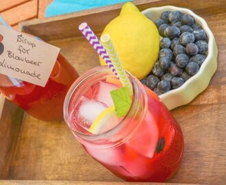 Drink Pink! Erfrischende Blueberry Lemonade aus Blaubeer Limonaden Sirup & Lemonade Ice Pops