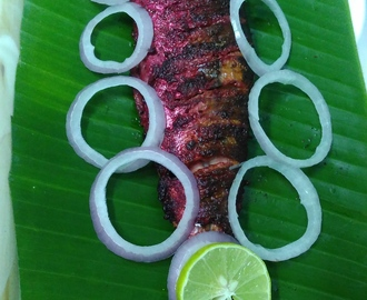 Beet root Marrinated Grilled Fish