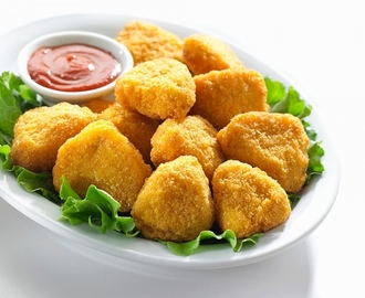 Nuggets de pollo molido