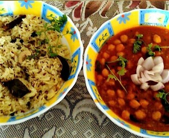 Jeera Rice with Chole Curry