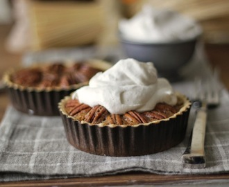 Vanilla Bean Whipped Cream on Pecan Pie