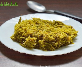 Palak Khichadi recipe - spinach lentil rice - easy rice varieties