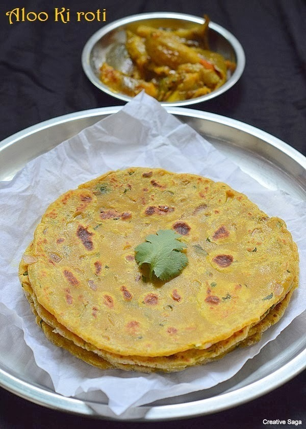 Aloo ki roti recipe- potato flatbread- Indian bread recipes