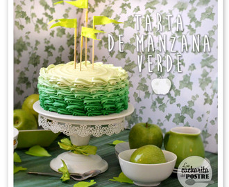 TARTA DE MANZANA VERDE CON DEGRADADO / GREEN APPLE OMBRE CAKE