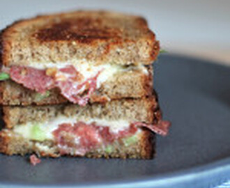recipe: Salami Green Onion Grilled Cheese
