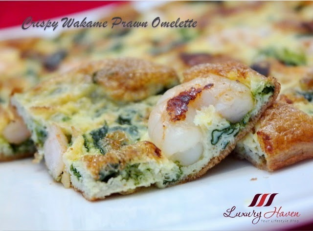 Korean Happy Call Pan Crispy Wakame Prawn Omelette Recipe