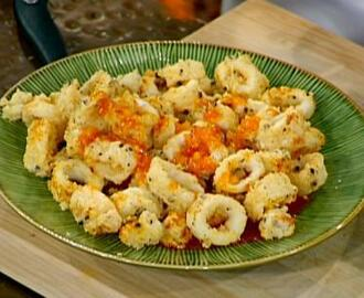 Salt and Pepper Calamari with Sweet and Sour Sauce
