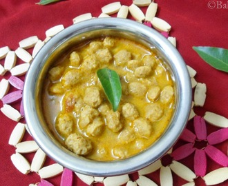 Soya Chunks curry /Meal maker curry
