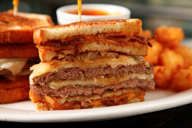 Rockit's Bacon Grilled Cheese Patty Melt Burger