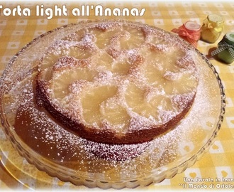 Torta light all'Ananas (senza burro, senza uova, senza latte)