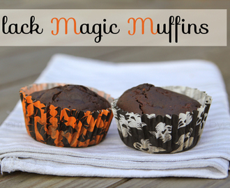 {Halloween-Rezept} - Black Magic Muffins (vegan)
