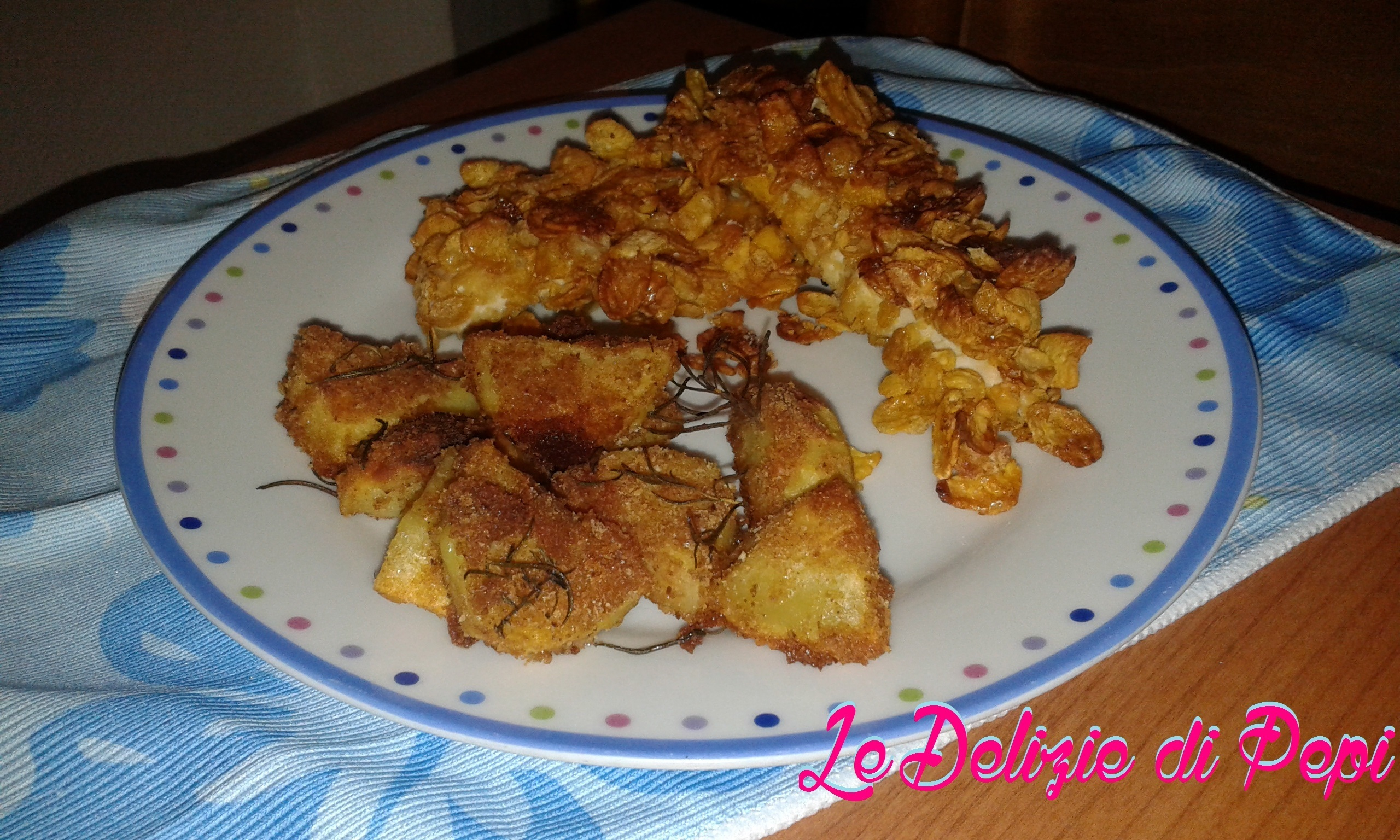 Pollo con panatura ai corn flakes