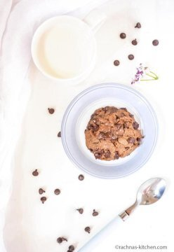 Chocolate Chip Cookie In A Mug No Egg Recipe