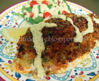 Crab Stuffed Catfish Fillets with Cajun Remoulade Sauce