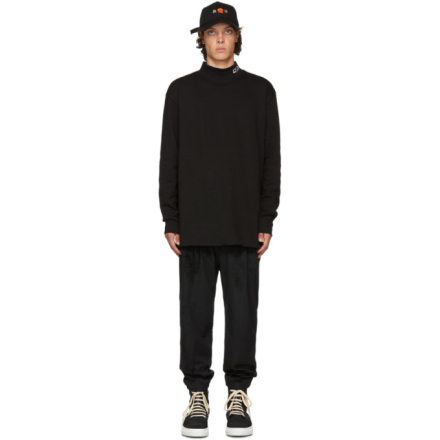 D by D Black Middle Collar Turtleneck