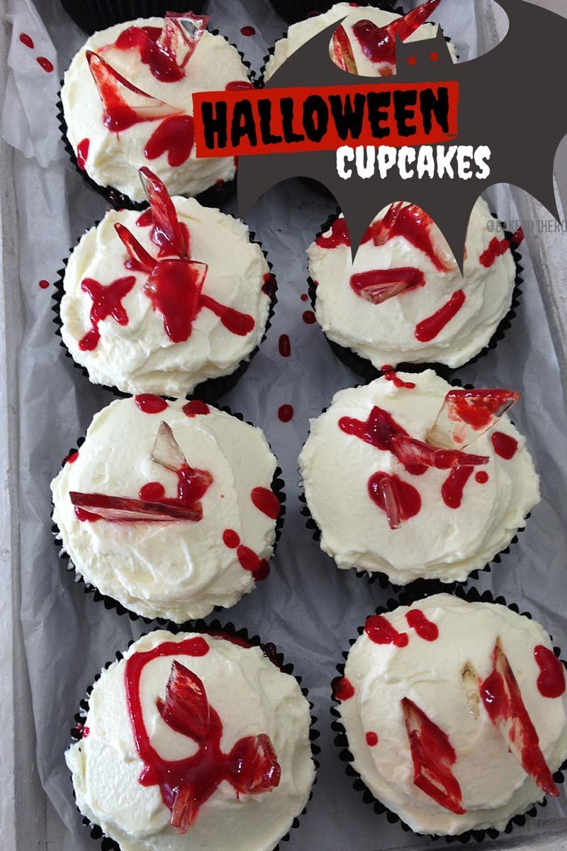 Halloween Cupcakes – Bloody Mess and Graveyard Cupcakes