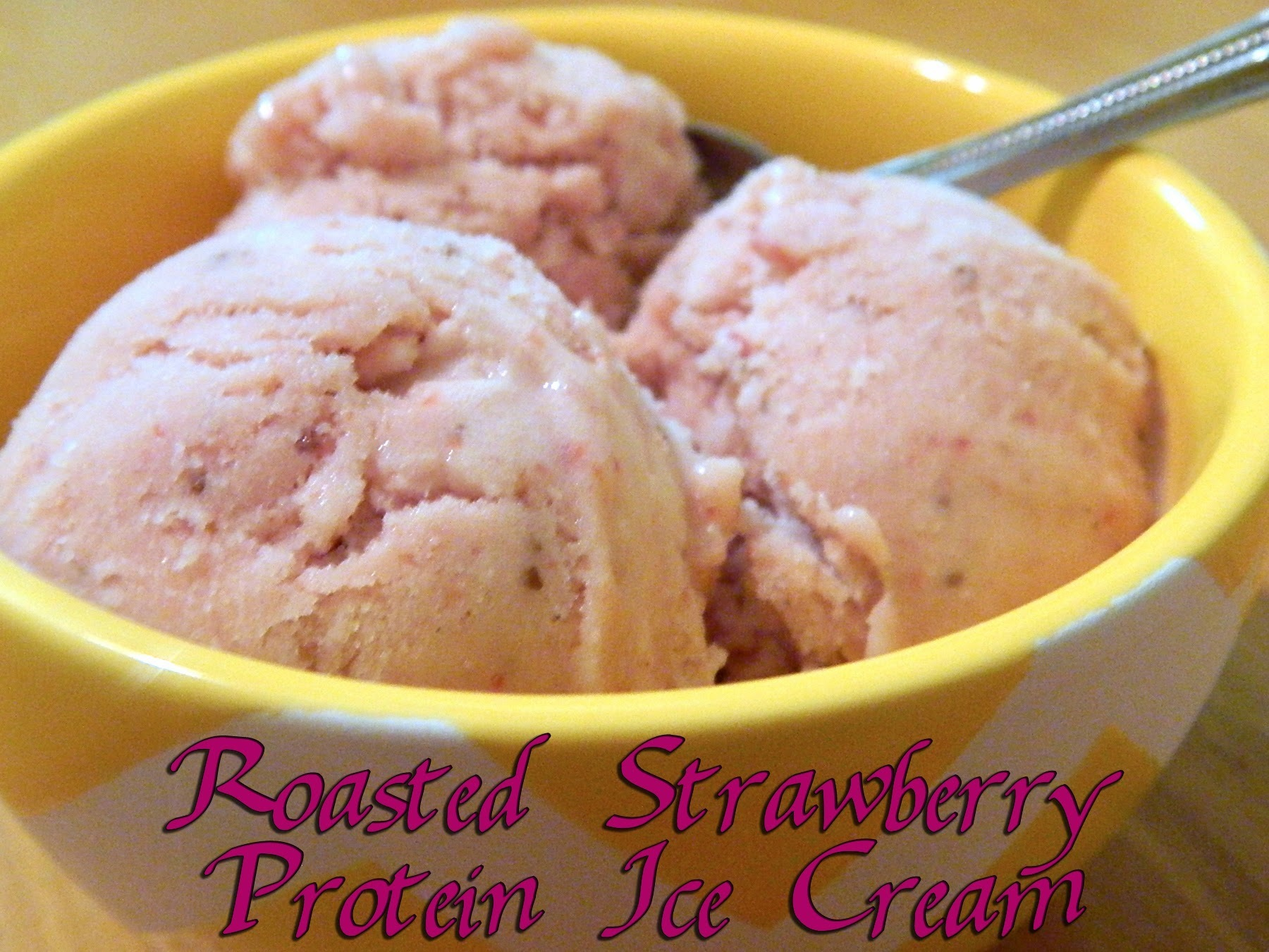 Roasted Strawberry Protein Ice Cream