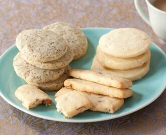 Classic Shortbread Cookies in 4 Ingredients with added 1 ingredient Variations