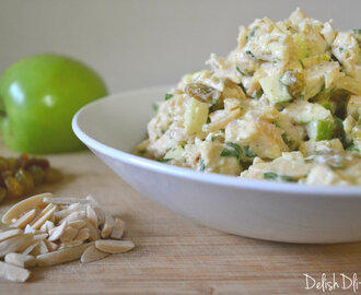 Apple, Almond and Raisin Chicken Salad