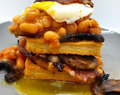 Bacon & Potato Waffle Breakfast Stack Recipe