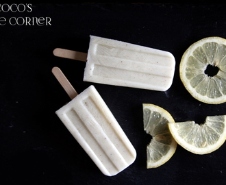 Zitronen Joghurt Buttermilch Popsicles - I scream Ice Cream