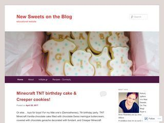 New Sweets on the Blog