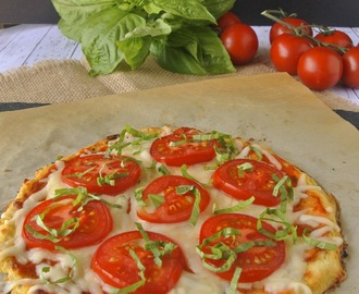 Cauliflower crust tomato basil pizza