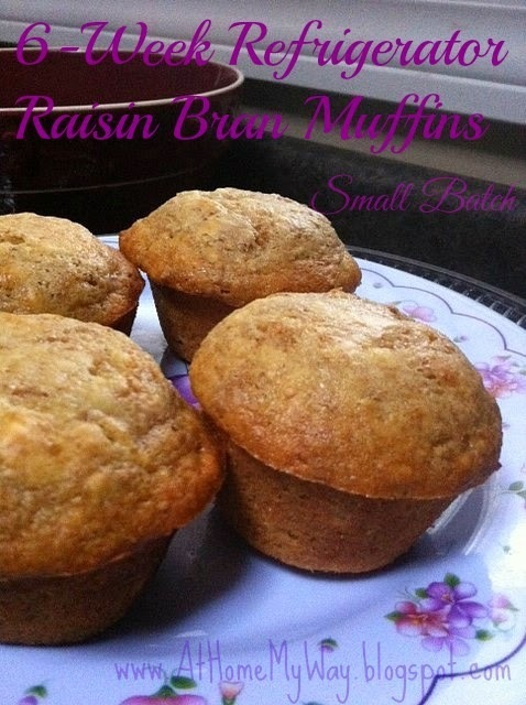 6 Week Bran Muffins (Raisin Bran) - Small Batch