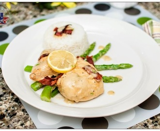 Creamy Lemon Chicken with Asparagus and Bacon