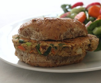 Pinto Bean and Bulgur Burgers