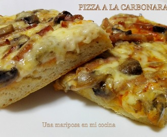 Pizza a la carbonara