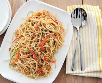 Sesame and Peanut Noodles