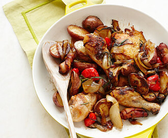 Skillet Chicken, Potatoes, and Peppers