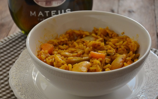 Arroz vegetariano al curry.