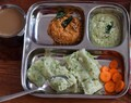 Breakfast Meal Plate:Mangalore Style Southe Gatti,Coconut Chutney, Tomato Chutney,Filter Coffee
