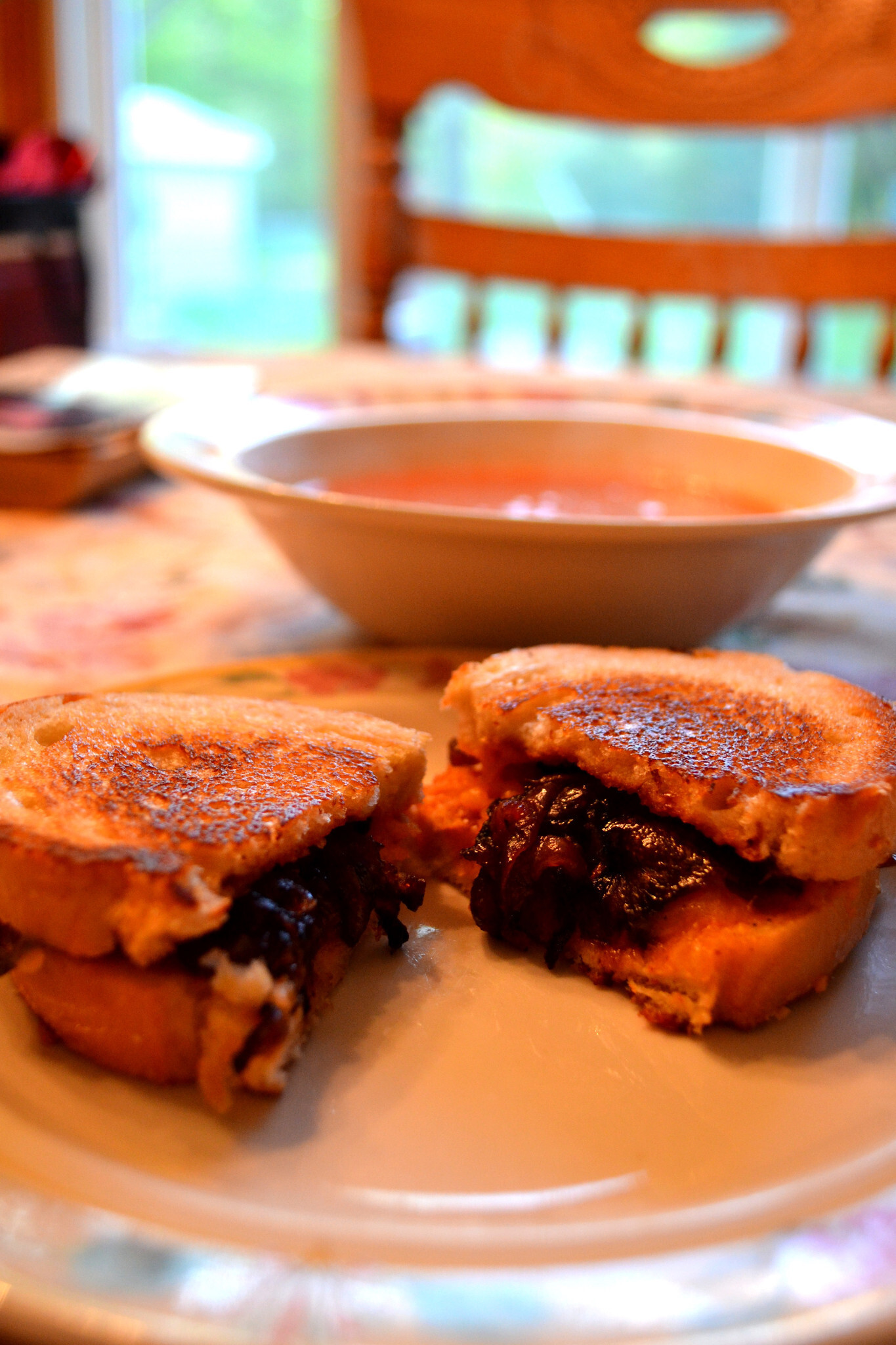 BBQ Grilled Cheese Sandwich with Caramelized Onions