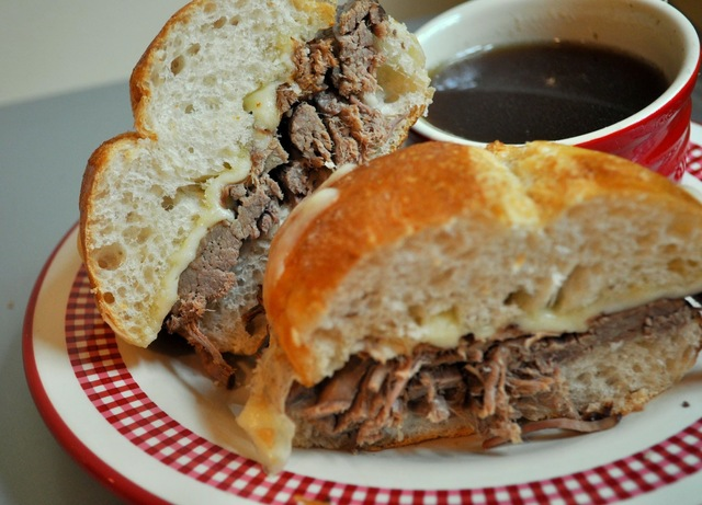 French Dip Sandwiches Crockpot Style