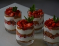 Verrines fraises, fromage blanc spéculoos