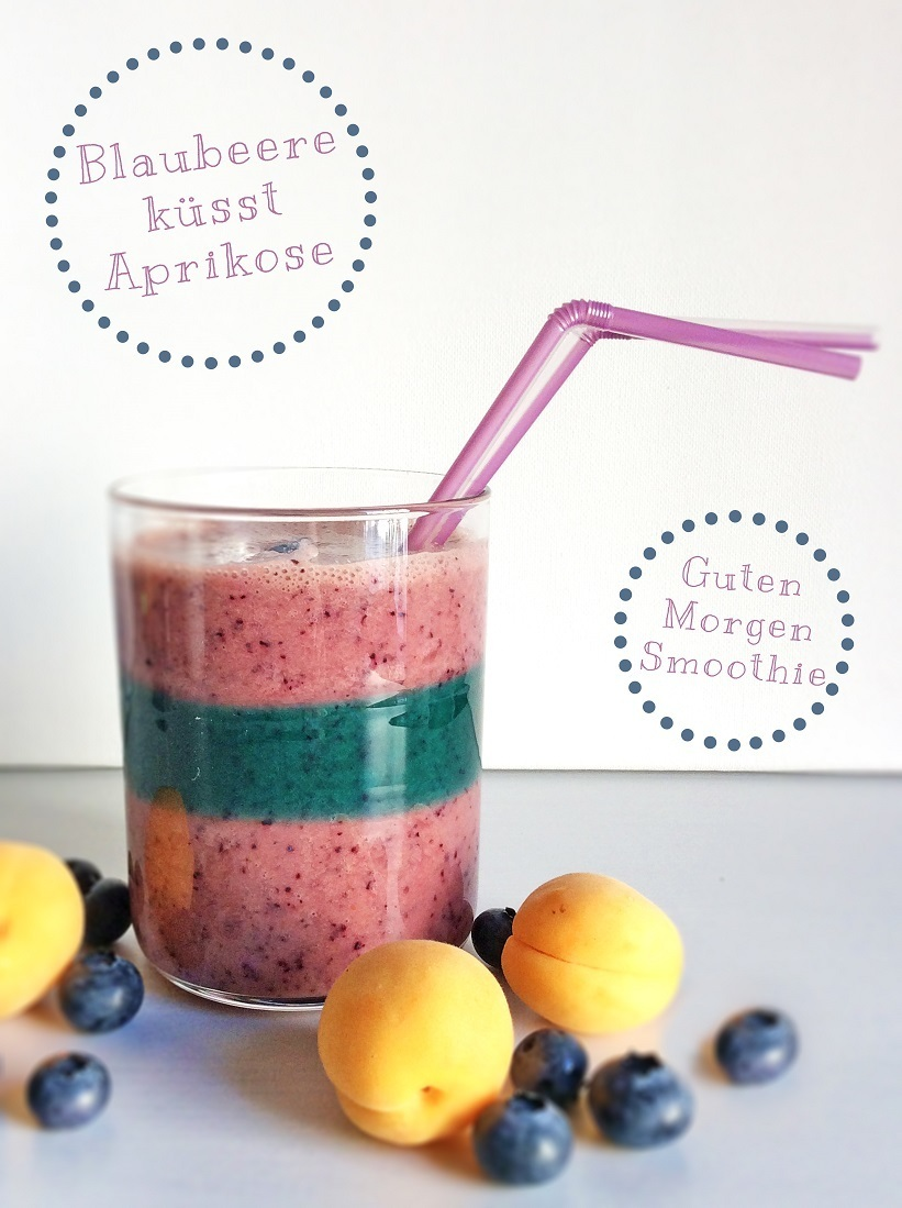 Fruchtiger Start in den Tag: Blaubeer-Aprikosen-Smoothie