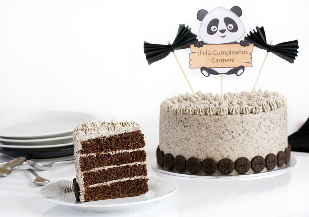 Tarta de chocolate y buttercream de galletas Oreo
